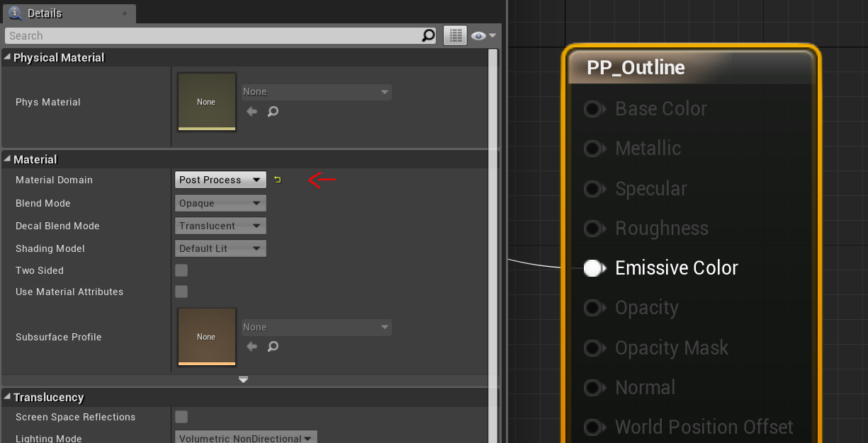 Quick copy-paste outline effect for your custom depth in UE4!